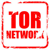 tor network, red rubber stamp with grunge edges