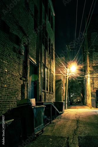 Poster Chicago Dark City Alley