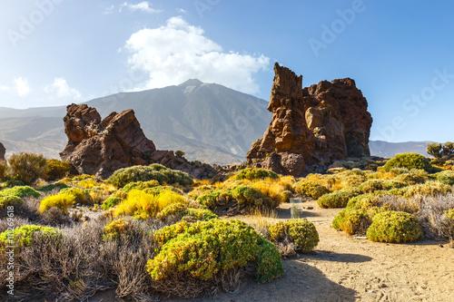 Keuken foto achterwand Noord Europa Roques de Garcia, Teide National Park, Tenerife, Canary Islands, Spain