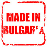 Made in bulgaria, red rubber stamp with grunge edges