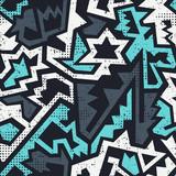 Fototapety Graffiti geometric seamless pattern