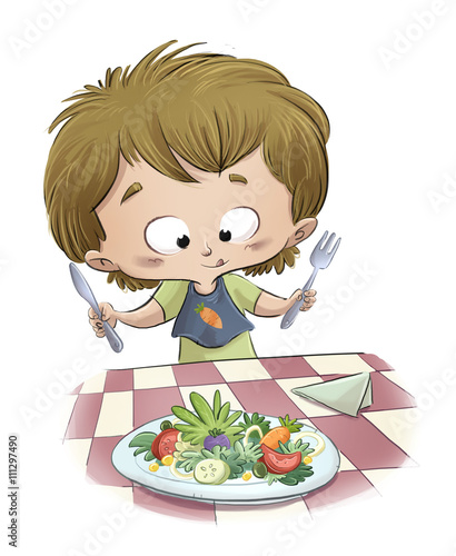 Niño Comiendo Ensalada Buy Photos Ap Images Detailview