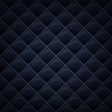 Quilted stitched background pattern. Black color.
