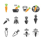carrot icon set