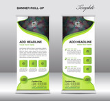 Roll up banner stand template, banner template,advertisement,fly - 111309661