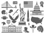 Fototapety Traditional symbols of the USA