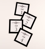 Formal Dinner Table Numbers