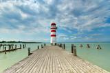 Sommertag am See, Leuchtturm in Podersdorf