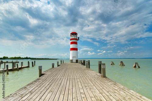 Sommertag am See, Leuchtturm in Podersdorf - 111324036