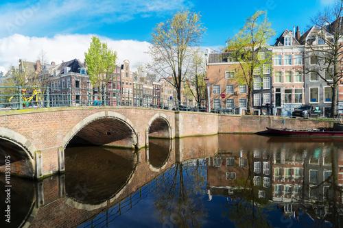 Keuken foto achterwand Noord Europa Houses of Amstardam, Netherlands