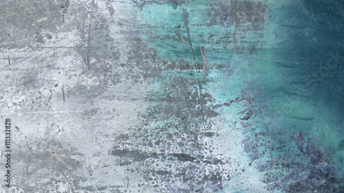 Fototapeta Old dirty rough painted peeled scratched metal surface 9