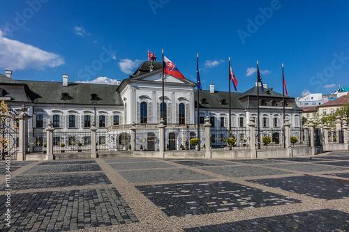 Plagát, Obraz Grassalkovich Palace (Grasalkovicov Palac). Bratislava, Slovakia.