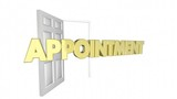 Appointment Meeting Opening Door Word 3d Animation