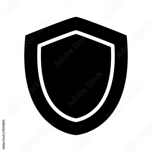 Medieval shield of protection flat icon for apps and games
