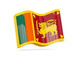 Wave icon with flag of sri lanka