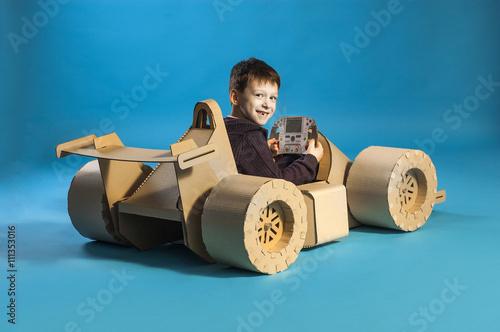Aluminium F1 Cardboard racing car