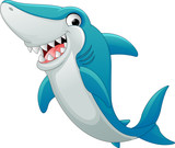 Happy shark cartoon