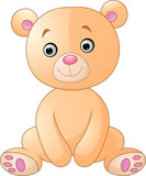 Cartoon happy sitting bear