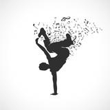 danseur silhouette,vecteur
