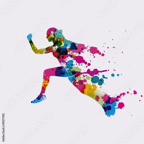 sportif en mouvement,vecteur