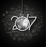 2017 New Year Infographic and Business Plan Background