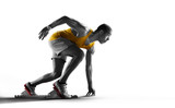 Sport. Isolated Athlete runner. Silhouette - 111394238