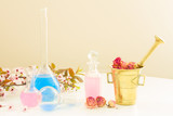 aromatherapy - dry flowers and potions