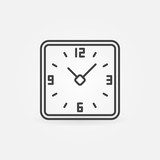 Clock in rounded squares icon