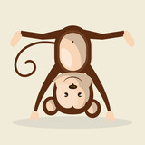 funny monkey design