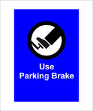 illustration of a sign indicating to apply the parking brake