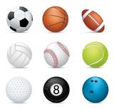 Fototapety Sport balls on white background
