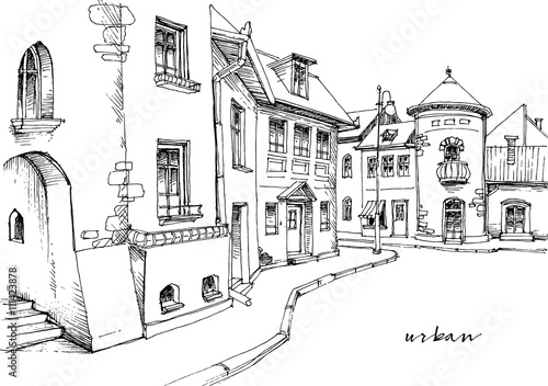 City street sketch - 111423878