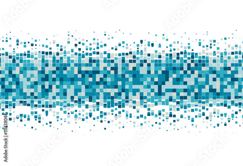 Fototapeta Pixel background. Pixelate Effect. Geometric background with squares. Vector illustration