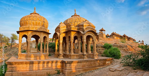 Poster The royal cenotaphs, Bada Bagh in Jaisalmer, Rajasthan, India