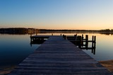 Sunrise at the Dock on the River - 111451691