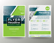 Green and Blue Geometric Poster Brochure Flyer design Layout vector template
