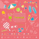 Fototapety 夏素材セット ピンク