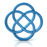 3d illustration of endless celtic knot isolated on white background