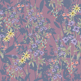 Cute seamless floral pattern. Background  with flowers. Vector i - 111472261