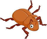 Red beetle cartoon