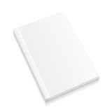 Fototapety Blank Closed Magazine, Book, Booklet, Brochure. Illustration Isolated On White Background. Mock Up Template Ready For Your Design. Vector EPS10