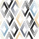 Cute vector geometric seamless pattern. Brush strokes, rhombus. Hand drawn grunge texture. Abstract forms. Endless texture can be used for printing onto fabric or paper