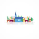 Village-silhouettes couleurs - 111502043