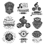 Mountain Bike Vintage Stamp Collection
