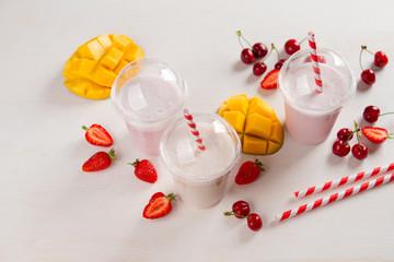 Berry  and ice cream milkshake (smoothie)