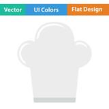 Flat design icon of Chief cap