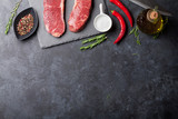 Fototapety Raw striploin steak