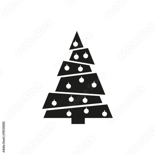 Simple minimal black tree icon symbol style design