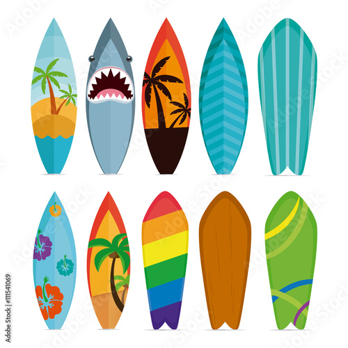 Fototapeta Set of surfboards