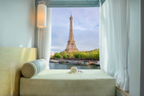 Summer, Travel, Vacation and Holiday concept - Beautiful Eiffel - 111542256